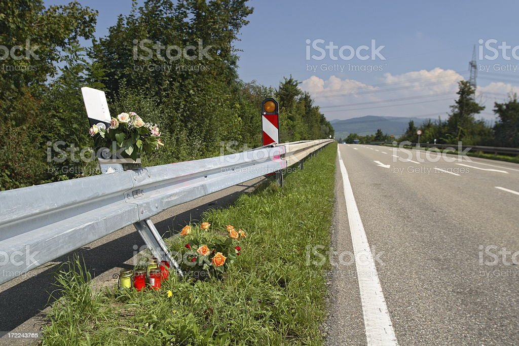Fatal Crash Site stock photo