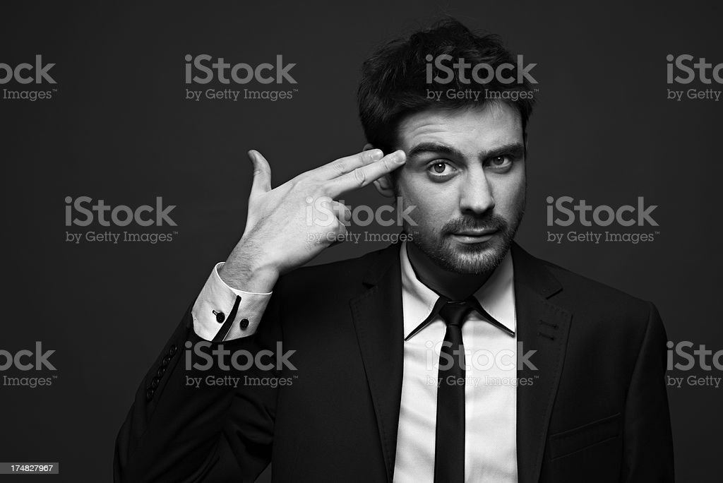 Fate of a businessman royalty-free stock photo
