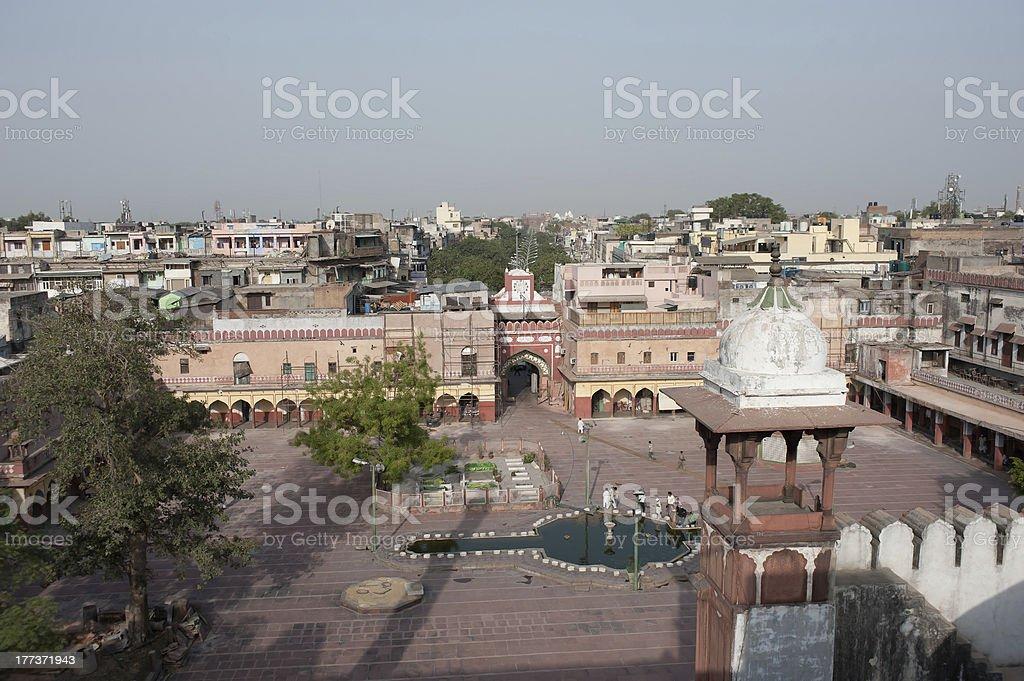 Fatehpuri Masjid at the end of Chandni Chowk, Old Delhi stock photo