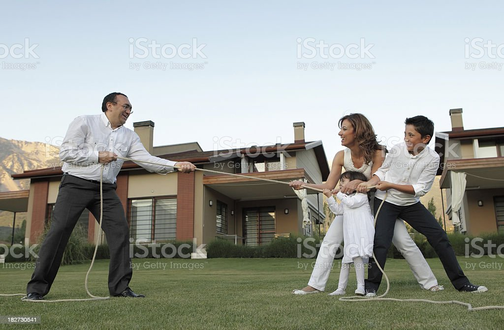 Father Against Family royalty-free stock photo
