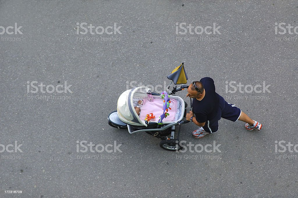 Father and a baby stock photo