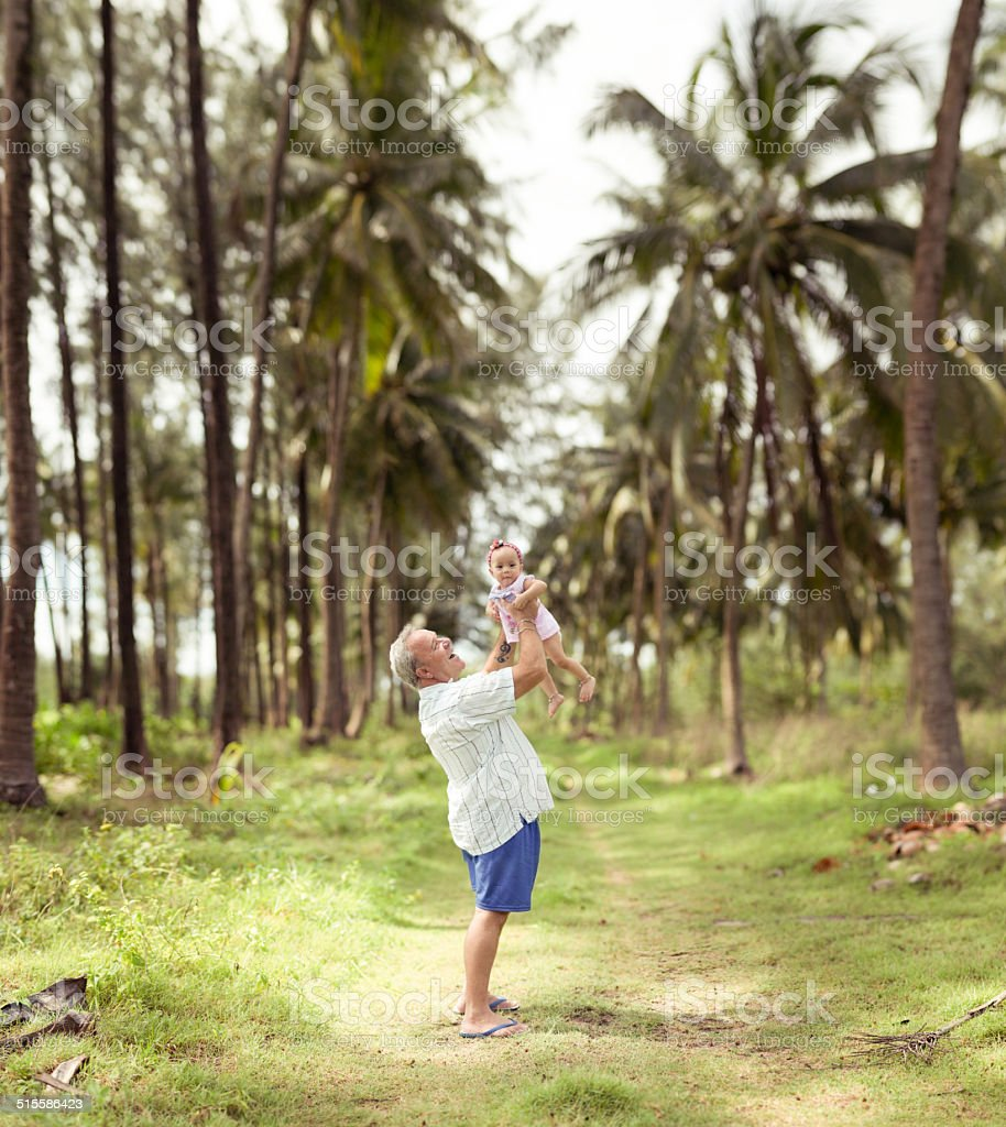Vater und baby-Tochter lieben Lizenzfreies stock-foto