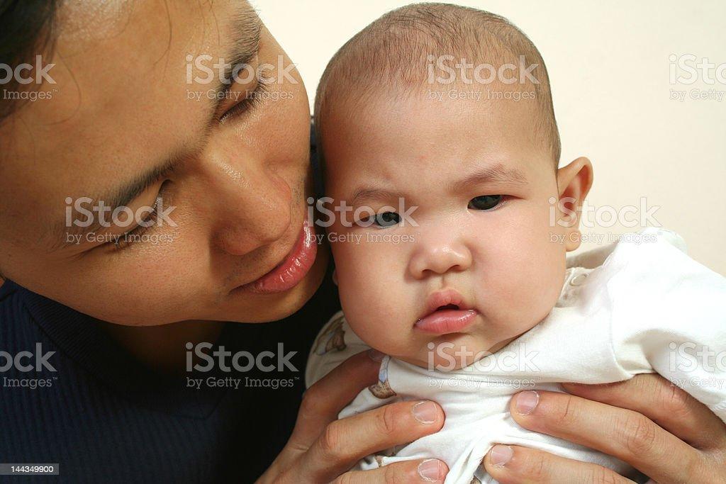 Vater und baby-(Serie Lizenzfreies stock-foto