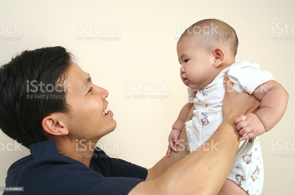 Father and baby (series) royalty-free stock photo