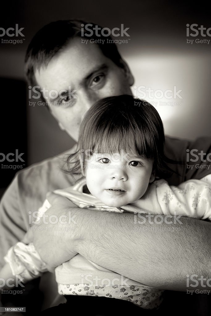 Father and baby royalty-free stock photo
