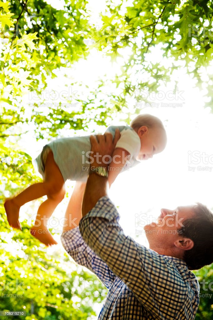 Father and Baby Son Bonding royalty-free stock photo