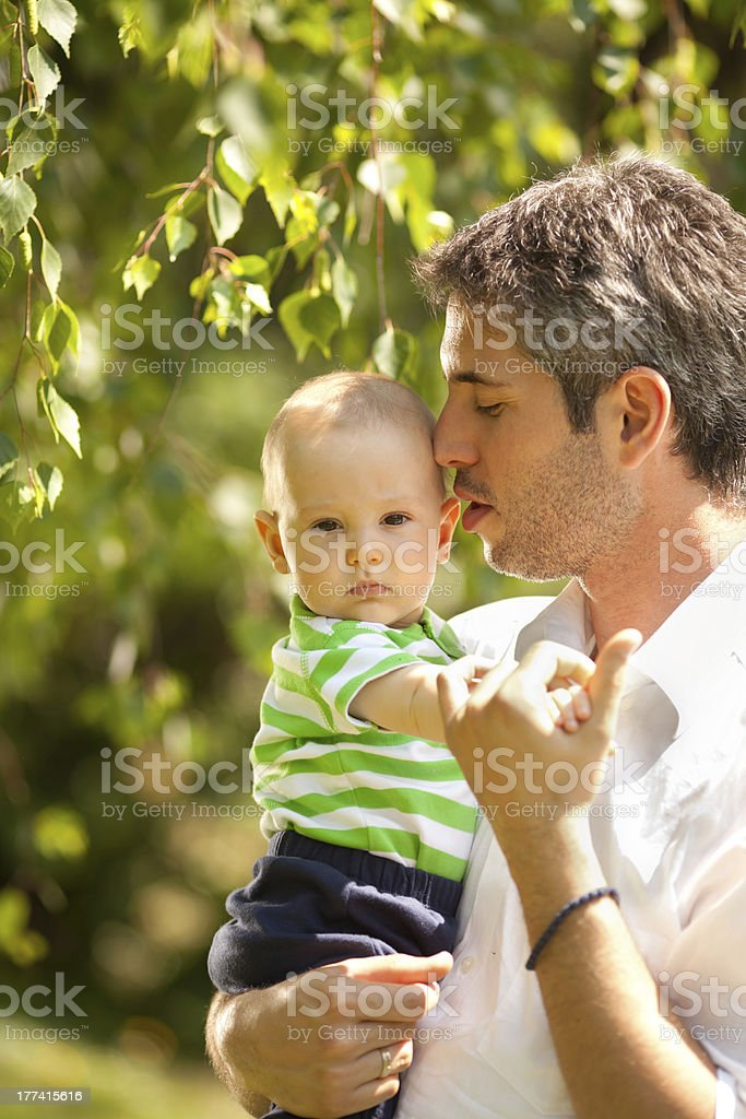 Father and baby son royalty-free stock photo