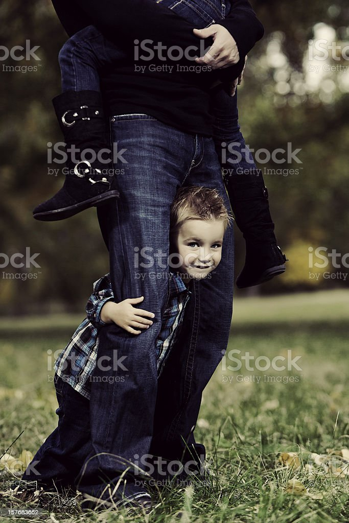 Father and Children royalty-free stock photo