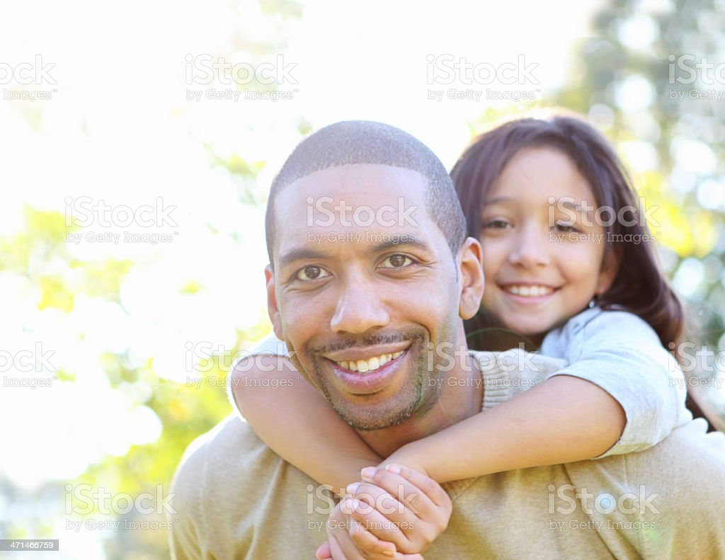 father and daughetr royalty-free stock photo
