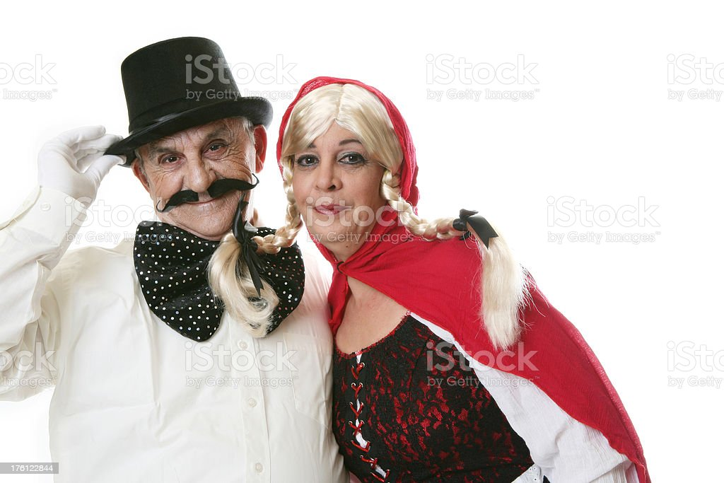 Father and daughter at Halloween royalty-free stock photo