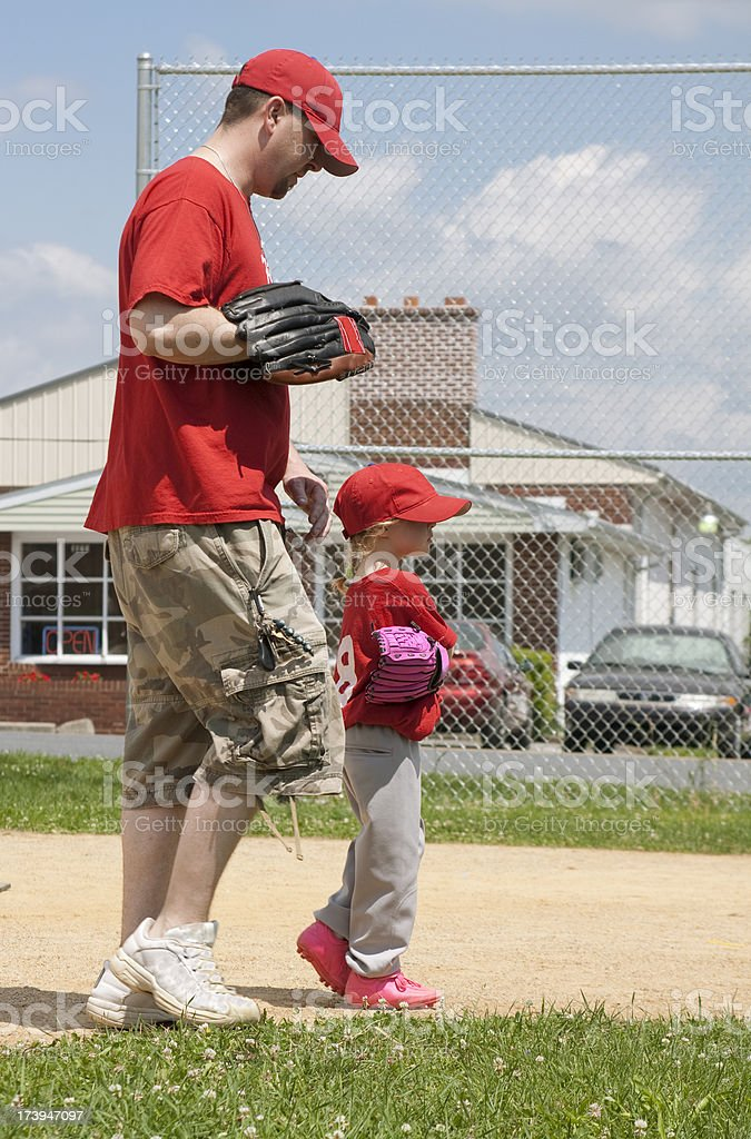 Father and Daughter Baseball royalty-free stock photo