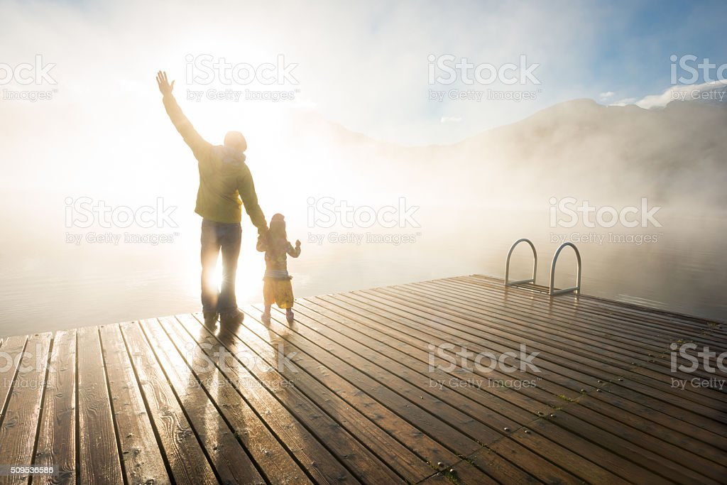 Father and daughter connection stock photo
