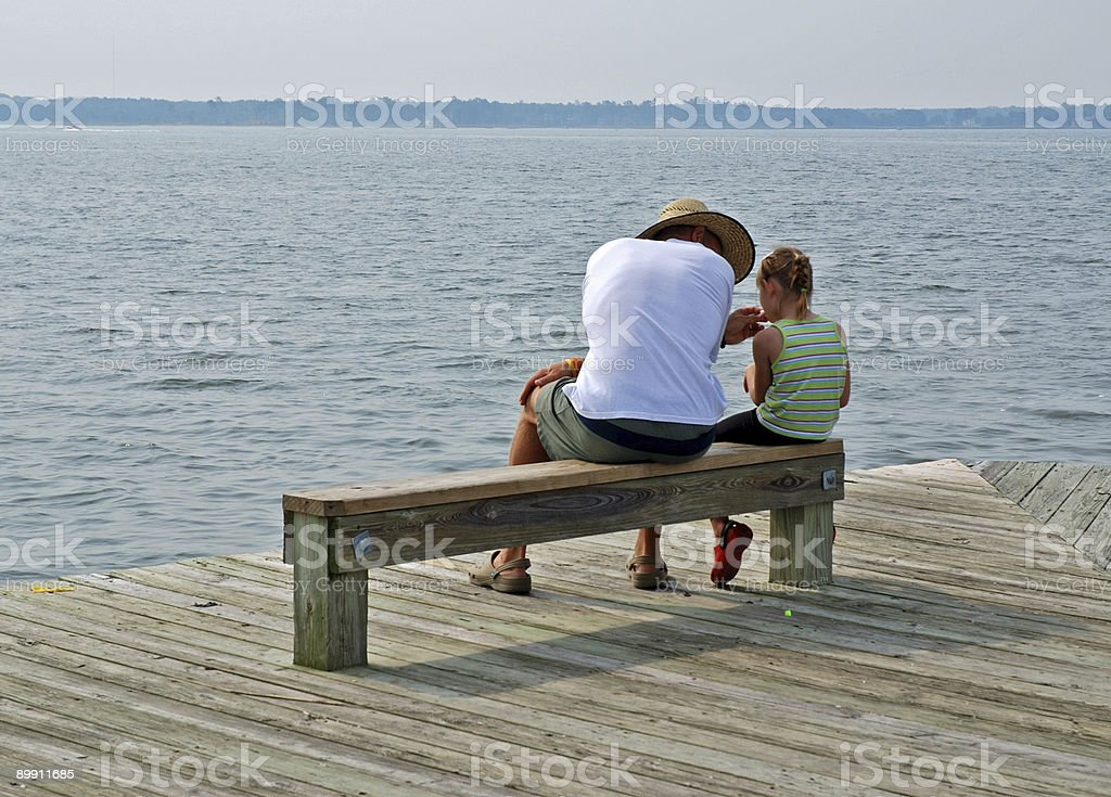 Father and Daughter Day at the Bay royalty-free stock photo