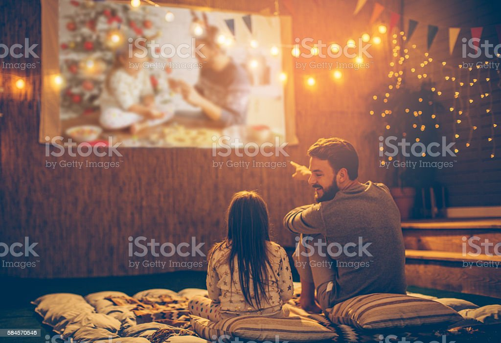 Father and daughter day. stock photo
