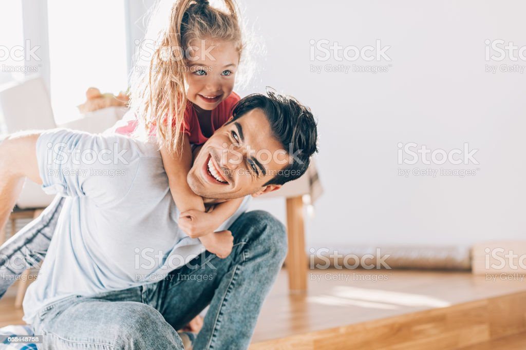 Father and daughter love stock photo