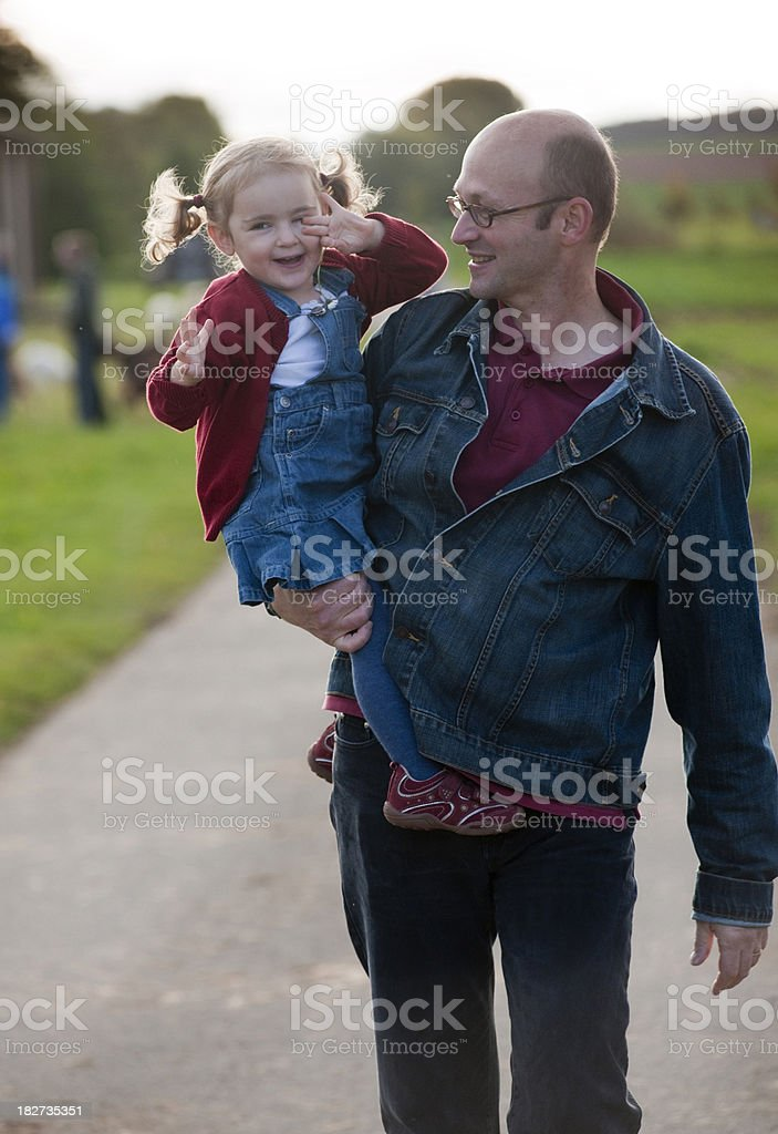 Father and daughter outdoor royalty-free stock photo