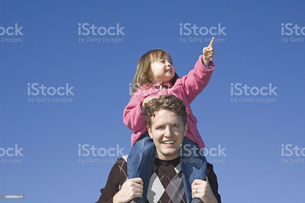 Father and Daughter Outdoors 3 royalty-free stock photo