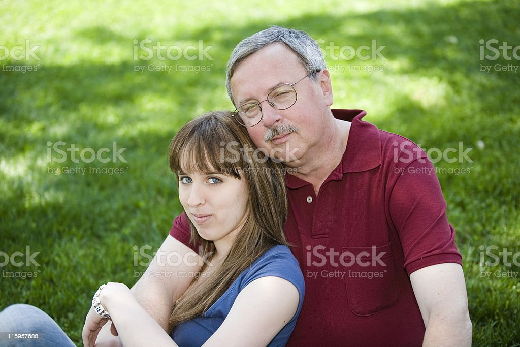 Father and Daughter royalty-free stock photo