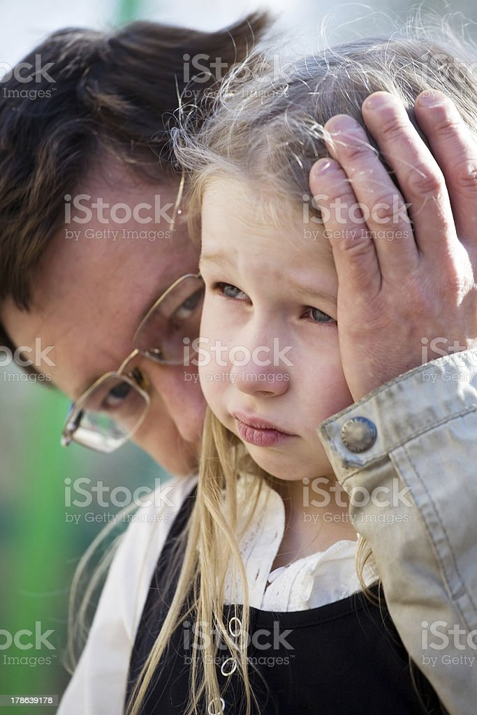 father and daughter stock photo