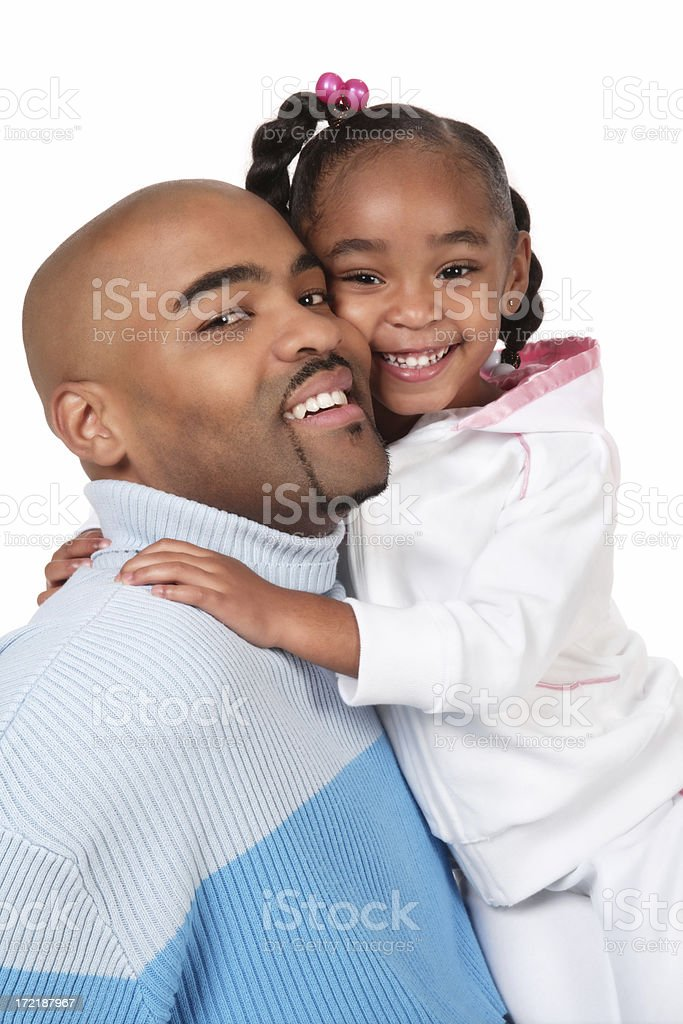 Father and Daughter Portrait royalty-free stock photo