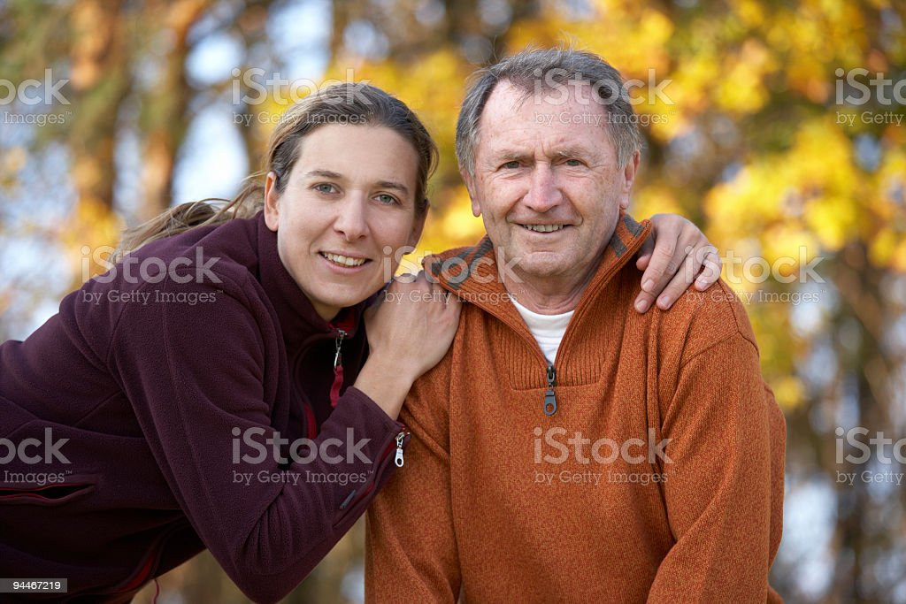 father and daughter series royalty-free stock photo