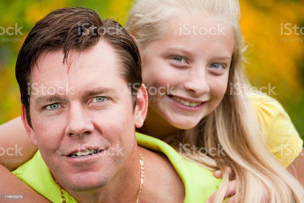 Father and Daughter Time royalty-free stock photo