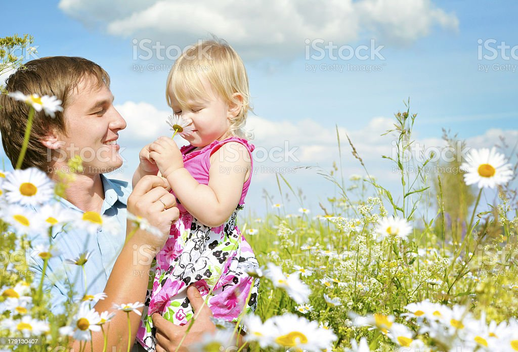 father and daughter together royalty-free stock photo