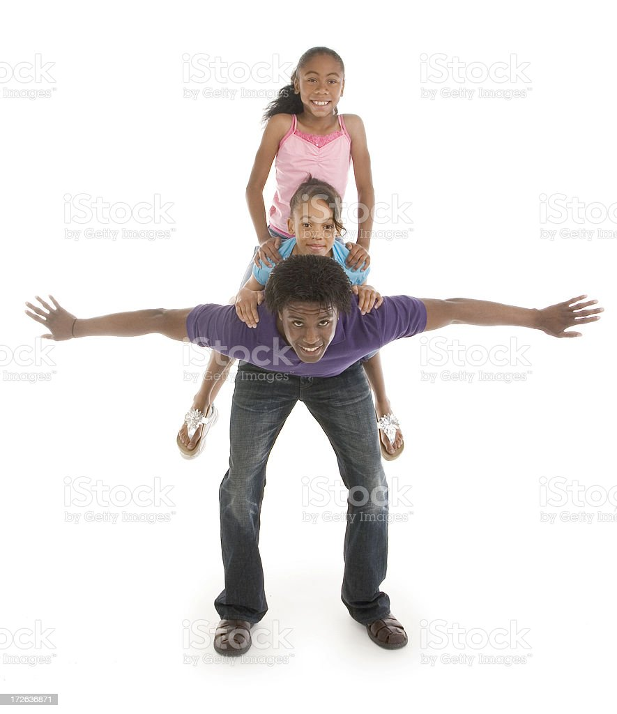Father and Daughters royalty-free stock photo