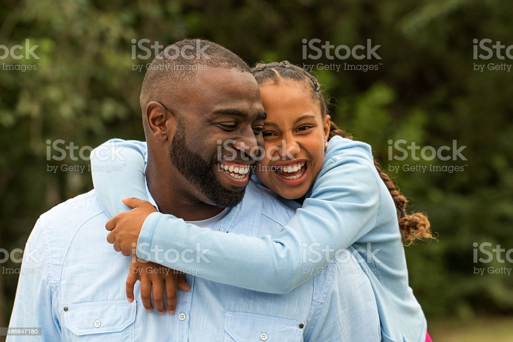 Father and daughther. stock photo