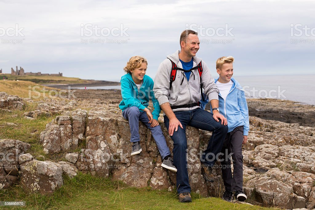 Father and his Sons Bonding stock photo