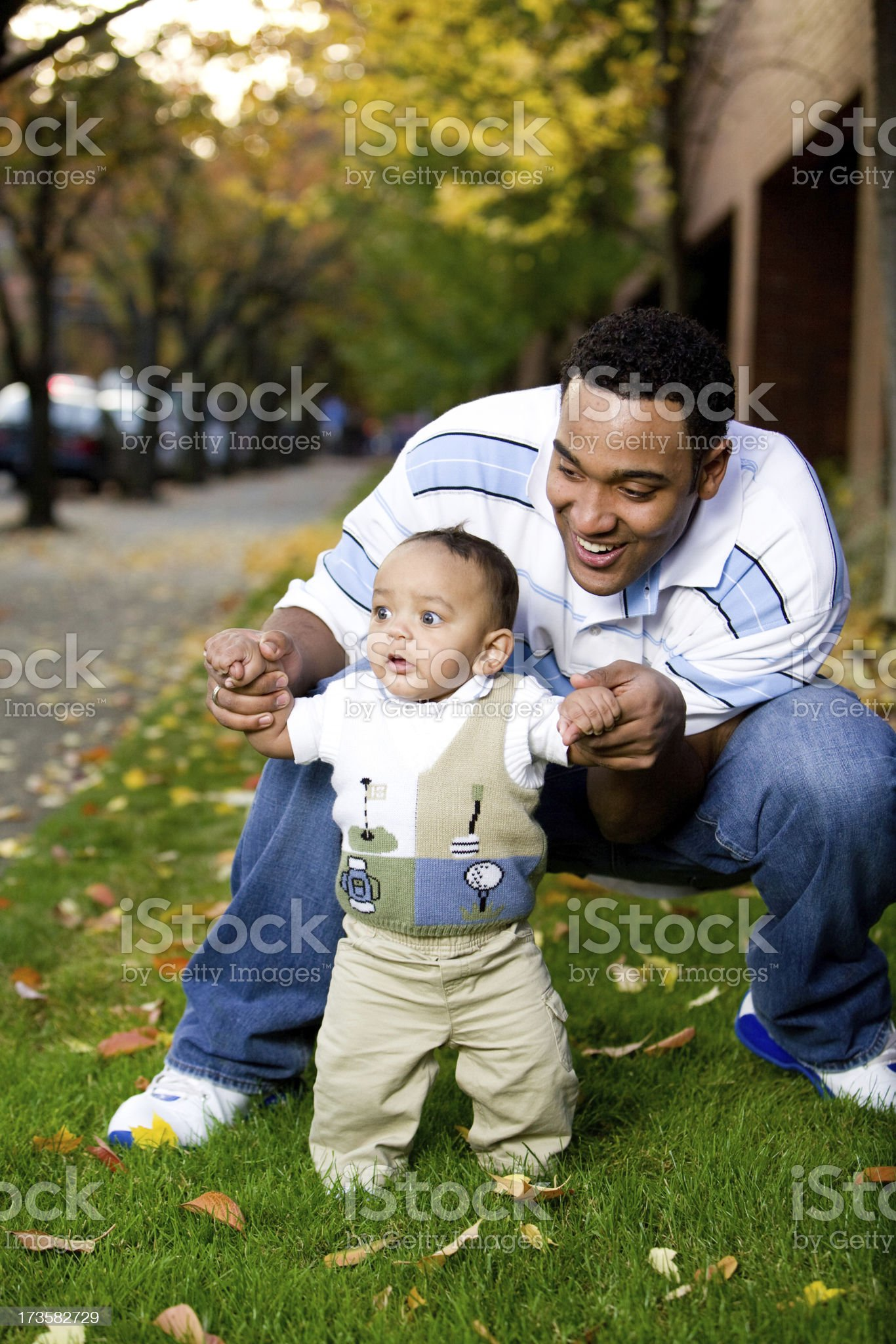 father and infant son royalty-free stock photo