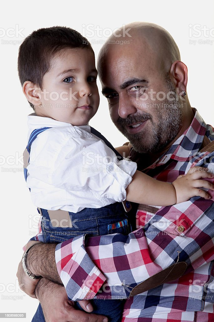 father and little boy royalty-free stock photo