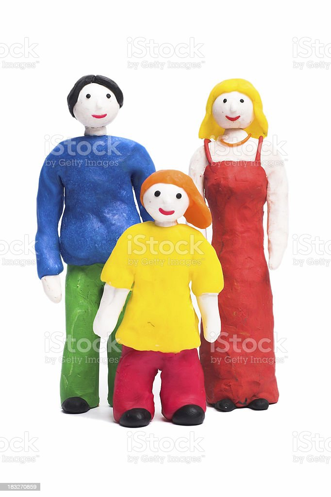 Father and Mother with Son royalty-free stock photo