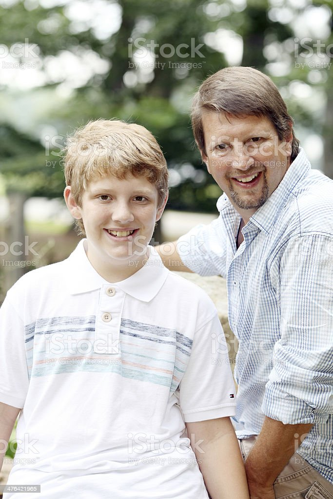 Father and Son Bonding royalty-free stock photo