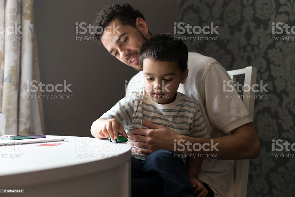 Father and son bonding stock photo