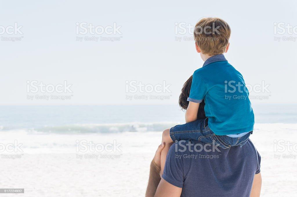 Father and son future stock photo