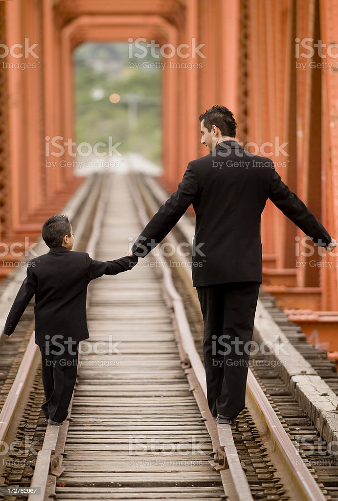 Father and son having fun royalty-free stock photo