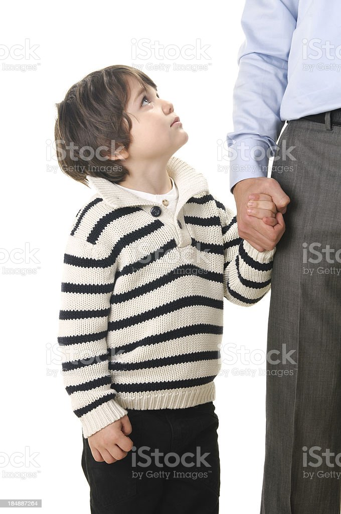 father and son holding hands royalty-free stock photo