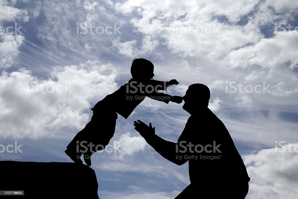 Father and Son II stock photo