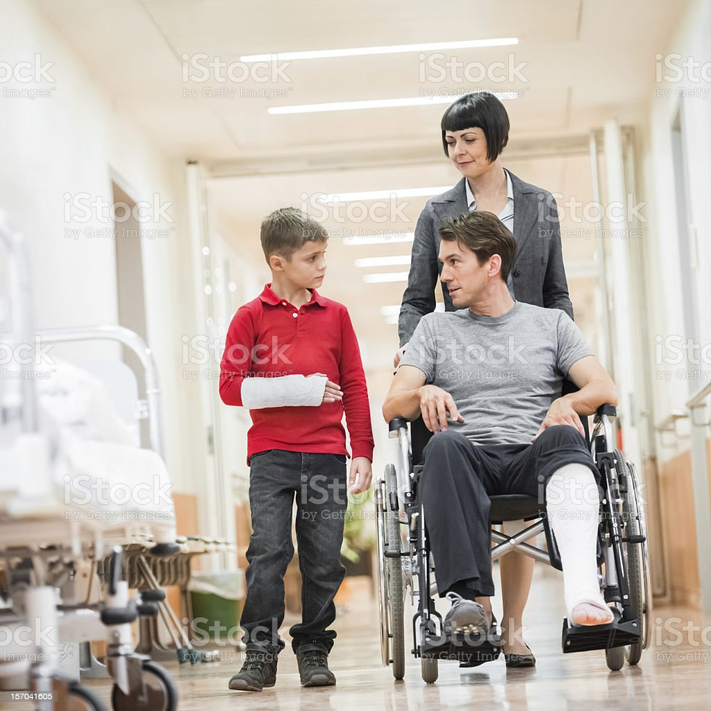 Father and Son in Hospital stock photo