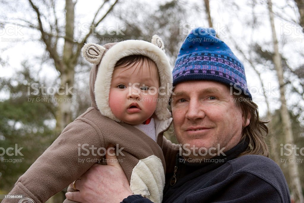 Father and son in the park royalty-free stock photo