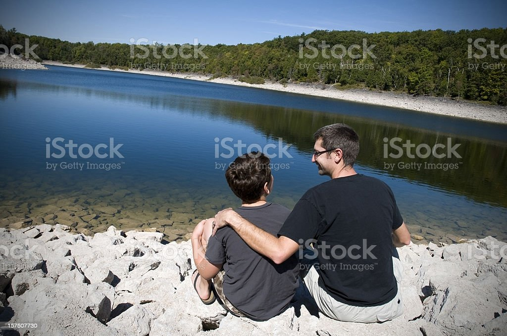 Father and Son, Mentor Concept stock photo