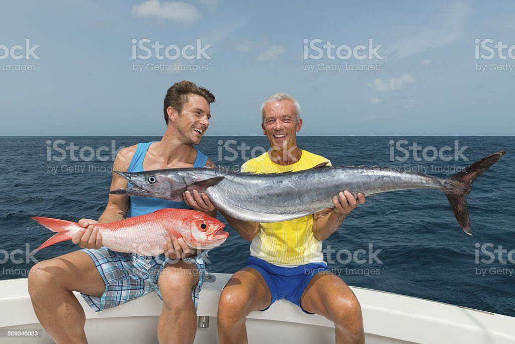 Father And Son On A Fishing Trip stock photo
