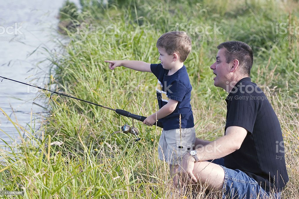 Father and Son Outing stock photo