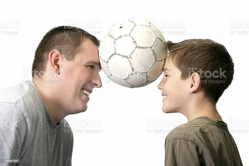Father And Son - Playing royalty-free stock photo