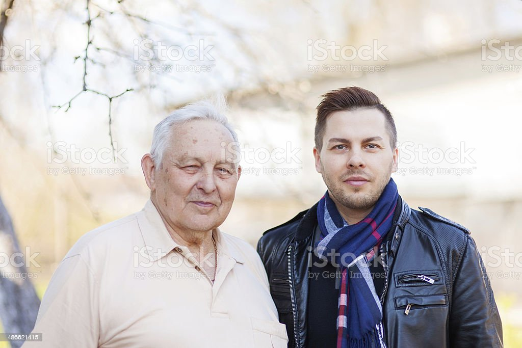 Father and son portrait royalty-free stock photo