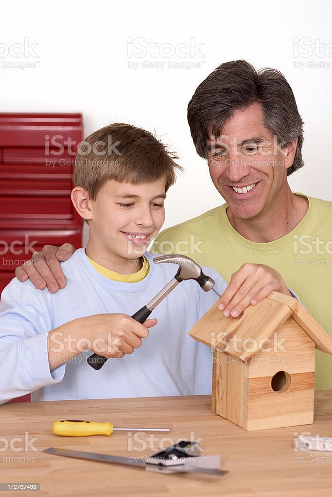 Father and Son Project royalty-free stock photo