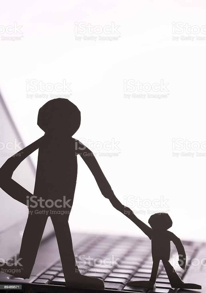 father and son  silhouette royalty-free stock photo