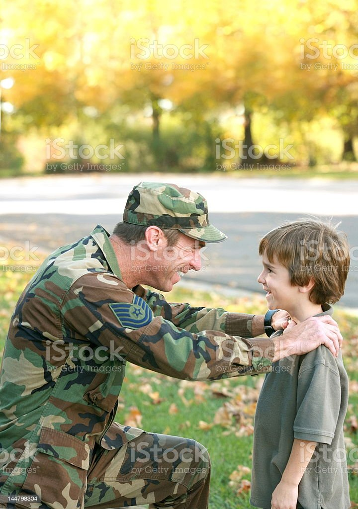 Father and Son Talking royalty-free stock photo