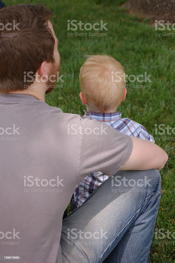 Father and Son; time shared royalty-free stock photo